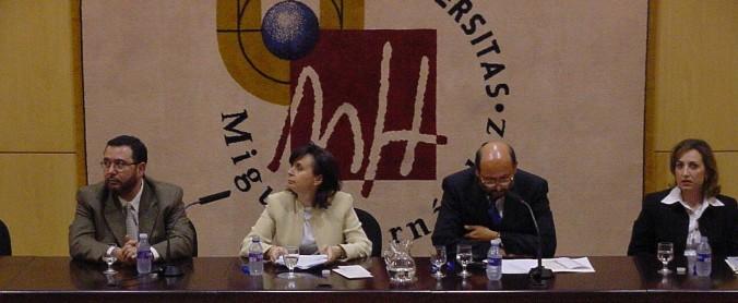 I Jornadas Universitarias Ilicitanas (abril de 2001)