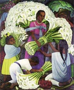 Diego Rivera, Vendedora de Flores (1949) Museo Español de Arte Contemporáneo