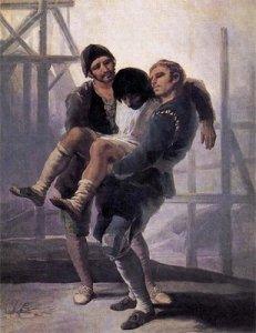 Goya, El albañil herido