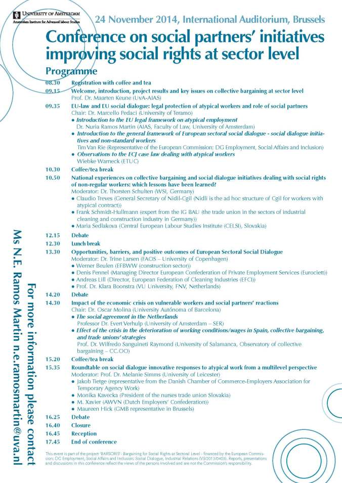 Programme Barsoris 24 Nov. 2014, Brussels-imagen