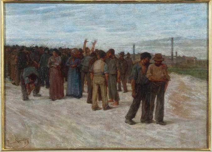 Plinio Nomellini, La huelga, 1889