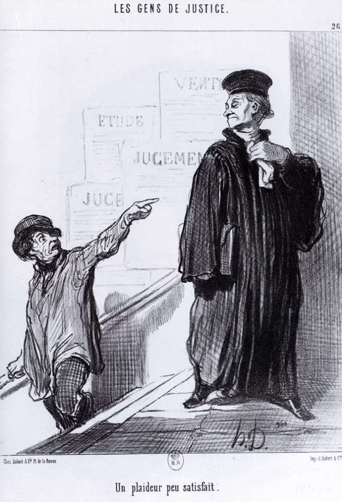 Honoré Daumier, Un litigante descontento