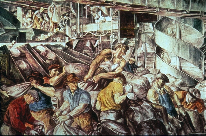 Reginald Marsh, Sorting Mail, 1935