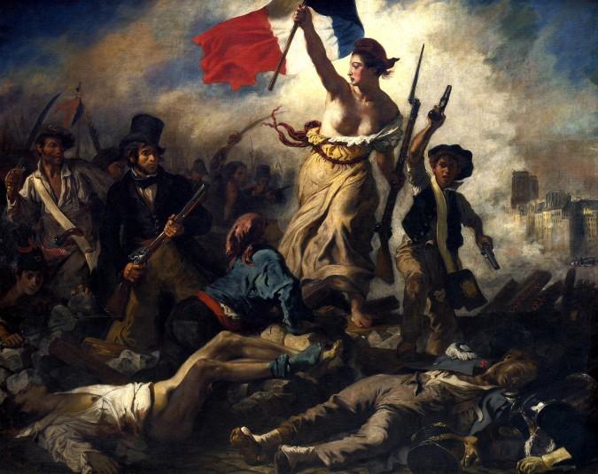 Eugène Delacroix, La libertad guiando al pueblo