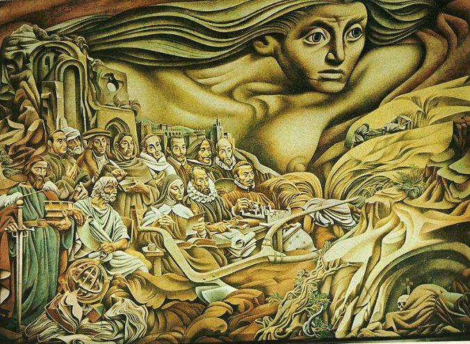 Josep Reanau, fragmento del mural La Hispanidad