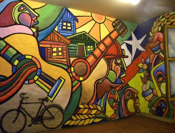 Brigada Ramona Parra, mural