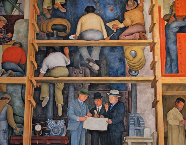 Derecho del trabajo el blog de wilfredo sanguineti for Diego rivera mural san francisco art institute