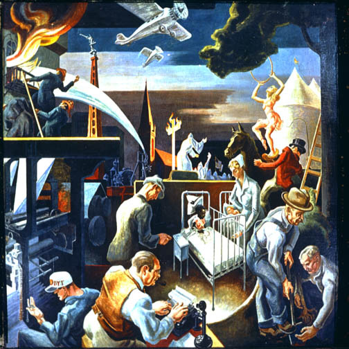 Thomas Hart Benton, Mural, Indiana University