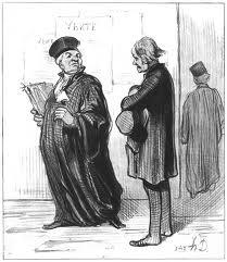 Honoré Daumier, litografía, 1846