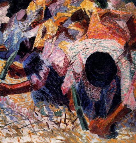 Umberto Boccioni, The Street Pavers (1914)