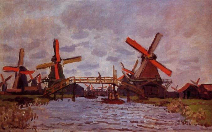 Claude Monet, Molinos de viento cerca de Zaandam (1871)