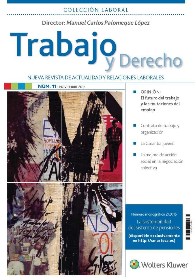 Trabajo y Derecho número 11 - cubierta