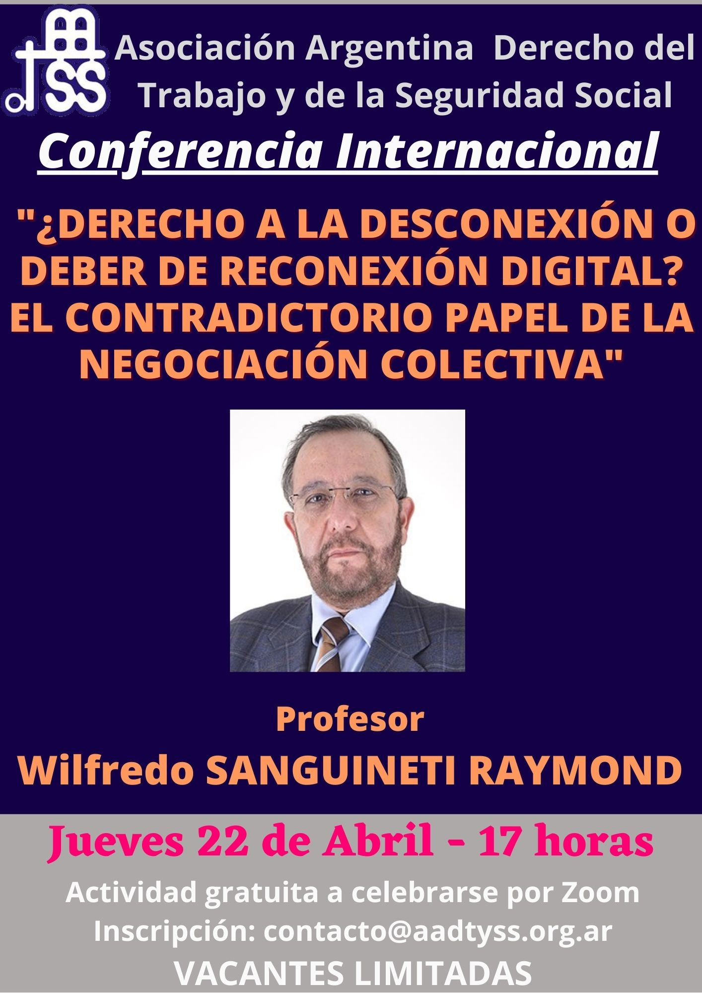 vvideoconferencia argentina desconexion WSANGUINETI
